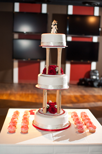 Baseball Wedding Cake Stand