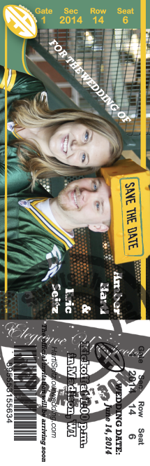 Football Ticket Wedding Save the Date