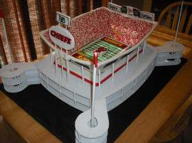 Kansas City Chiefs Wedding Cake