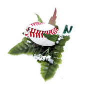 Baseball Rose Wedding Boutonniere
