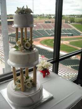 Baseball themed Wedding Cake