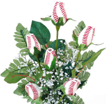 Baseball Rose Bouquet