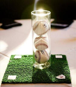 baseball field centerpiece idea
