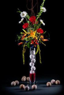 Sports themed weddings sports themed wedding reception centerpieces junglespirit