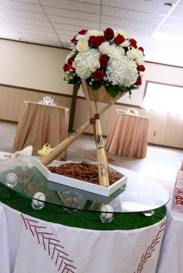 Baseball Bat Centerpiece - Wedding Reception