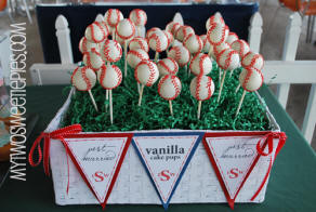 baseball wedding cake pops