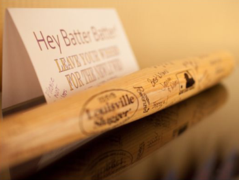 Sports Themed Weddings Examples Of Personalized Louisville Slugger Baseball Bats
