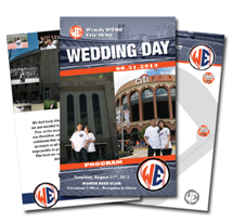 Baseball Themed Wedding Game Day Programs