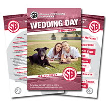 Baseball Themed Wedding Game Day Program