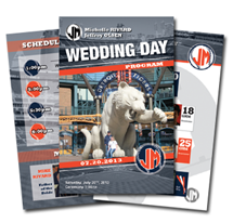 Baseball Wedding Program