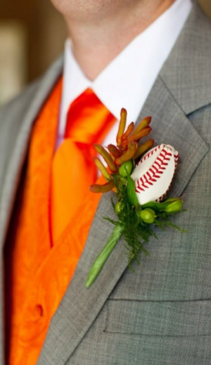 Sports Roses Boutonniere