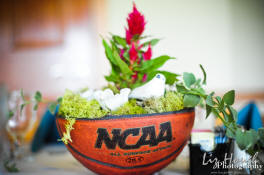 NCAA basketball theme centerpiece