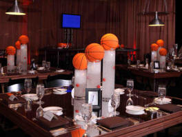 NBA wedding reception centerpiece