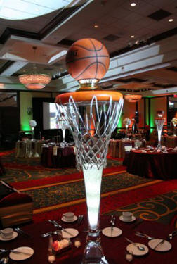 NBA Basketball Themed Wedding Reception Centerpiece