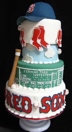 Boston Red Sox Wedding Cake