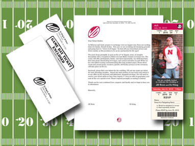 Custom Sports Themed Wedding Invitation Package