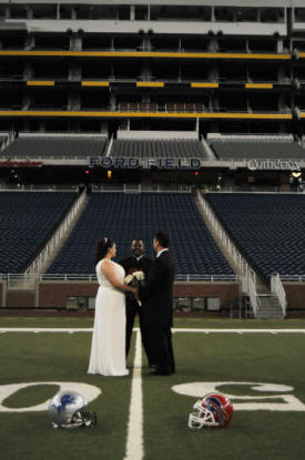 NFL Football Themed Wedding at Ford Field