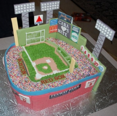 STWTack Fenway Park Grooms Cake For Baseball Themed Wedding
