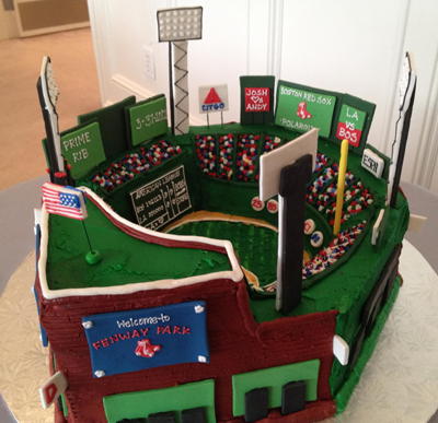 Fenway Park Stadium Wedding Cake - Home of the Boston Red Sox