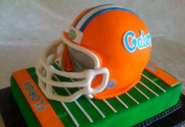 Florida Gators Football Themed Wedding Cake