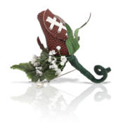 Football Rose Wedding Boutonniere