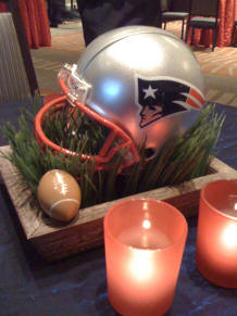 NFL wedding reception centerpiece idea