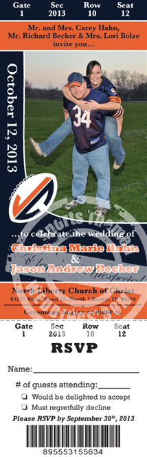 Football Themed Wedding Ideas