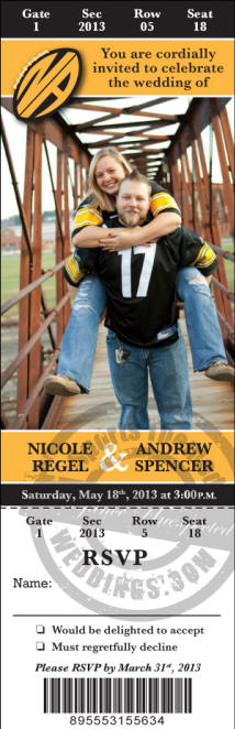 Pittsburgh Steelers Wedding Invitations