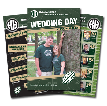 STWTack Fooball Themed Wedding Program Example