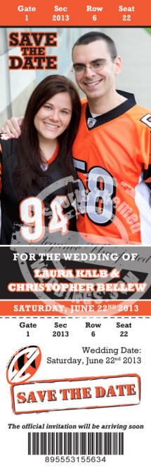 Personalized Football Wedding invitations