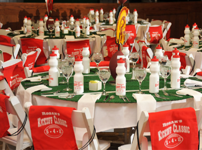 Sports themed weddings football themed wedding centerpiece ideas stwtack football themed wedding junglespirit Images