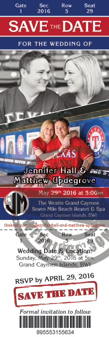 Baseball Themed Wedding Ideas Save the Date