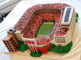 NCAA College Stadium Wedding Cake