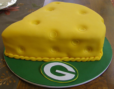 Green Bay Packers Cheesehead Wedding Cake