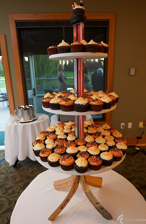 Hockey Themed Wedding Cupcake Tower