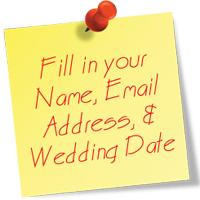 Fill in Your Name, Email, and Wedding Date