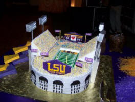College Stadium Wedding Cake - LSU