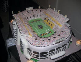 LSU Tigers Stadium Wedding Cake