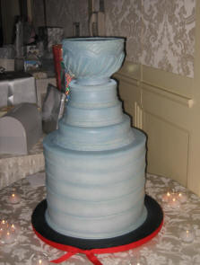 NHL Hockey Themed Wedding Cake - Trophy