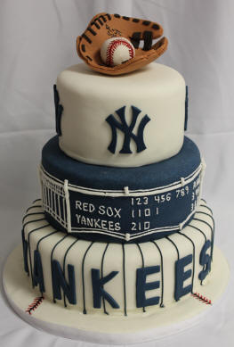 NY Yankees Wedding Cake
