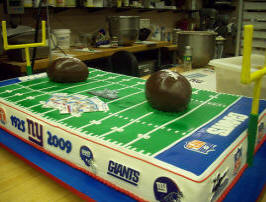 New York Giants Wedding Cake