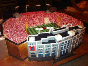 NFL Stadium Wedding Cake