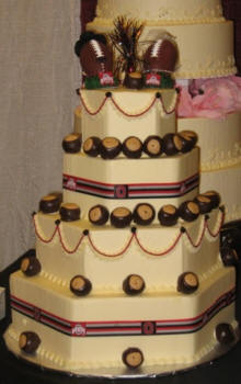 Ohio State Football Wedding Cake - NCAA College