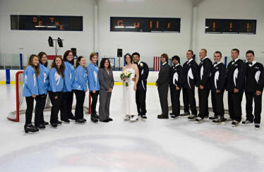 Hockey Themed Wedding on Ice
