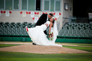 Wedding Photo Example - Pitcher's Mound