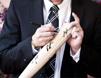 Sign Our Guestbook - Louisville Slugger Bat