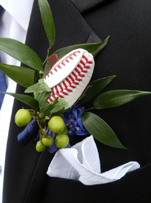 Custom Sports Rose Boutonniere