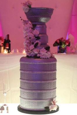 Awesome Hockey Wedding Cake
