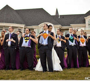 Wedding Photo Example - Super Hero Groomsman