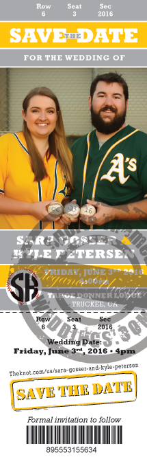 Baseball Themed Wedding Save the Dates